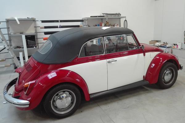 VW Käfer Teilfolierung