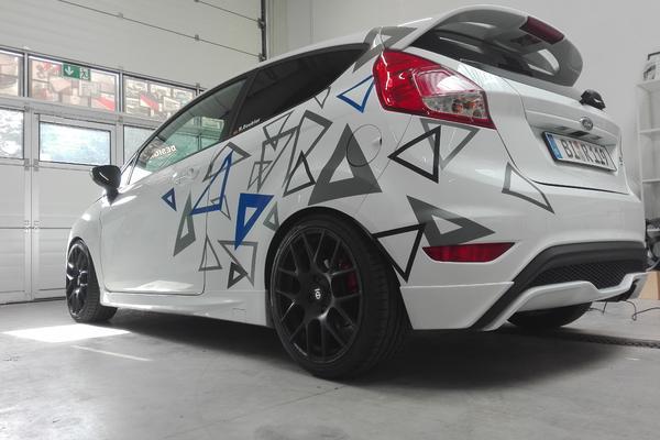 Ford Fiesta ST Teil Design Folierung